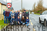 Residents from Steelroe who are appealing with the council to put traffic restrictions outside their estate front row l-r:  Michael O'Shea, Cllr Michael O'Shea, Claire O'Sullivan, Georgia O'Shea. Back row: Jerry Casey, Cll John Francis Flynn, Jackie Nagle, Helen o'sullivan, Diarmuid Murphy, Sean Mckenna, Gretta Curran, Michael Curran, Breda Langford