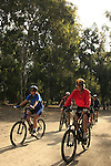 Israel, Southern Coastal Plain, cycling in Nahal Rubin National Park