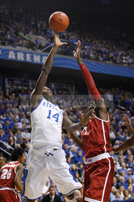 UK forward Michael Kidd-Gilchrist shoots the ball during the first half of the UK Men's basketball game against Alabama on 1/21/12 in Lexington, Ky. Photo by Quianna Lige | Staff
