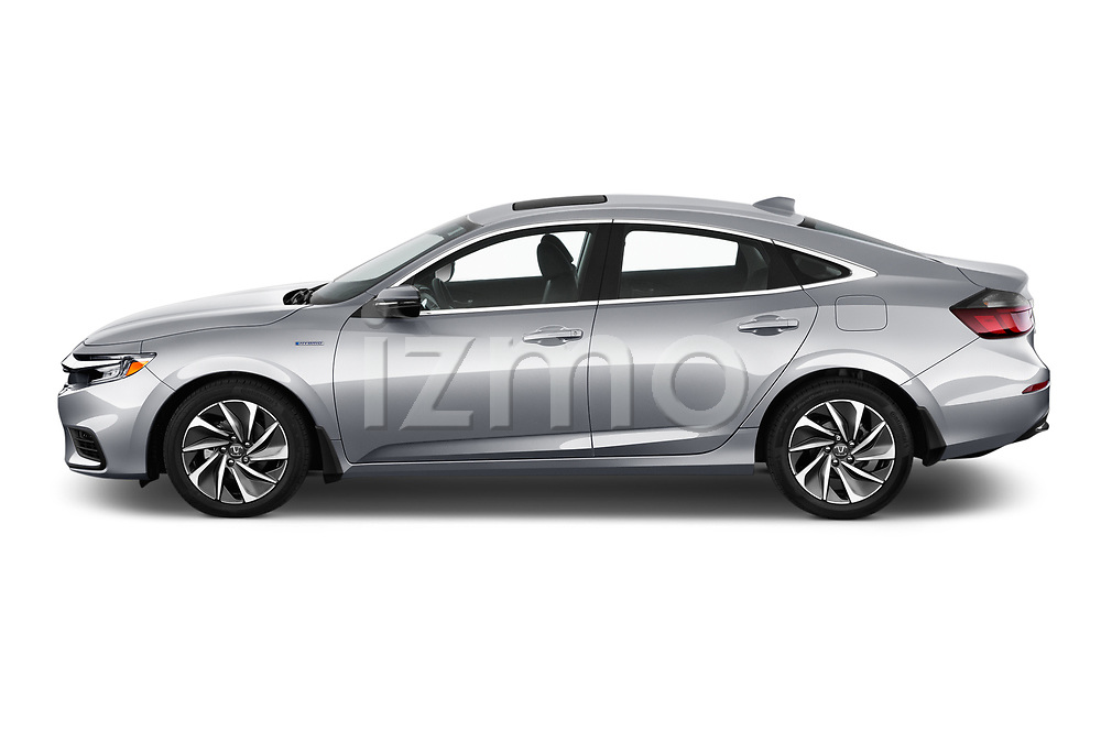 Car driver side profile view of a 2020 Honda Insight Touring 5 Door Hatchback