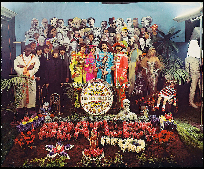 BNPS.co.uk (01202 558833)<br /> Pic: Michael Cooper/Christies/BNPS<br /> <br /> *Please use full byline*<br /> <br /> The only Dye transfer print of the famous Sgt Pepper album cover sold by Christies in London.