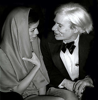 Bianca Jagger Andy Warhol 1978<br /> Photo By Adam Scull/PHOTOlink.net