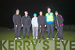'A Shot In The Dark!' Taking part in Irelands first round of Night Golf at Skellig Bay Golf Club on Good Friday were l-r; Connor Maher, Michael Corkery, Jane Creedon, Johnny Walsh, Mark Heinemann(Club Pro) & Aileen Maher.  11 teams teed off at 9:30pm with the last of the teams returning to the clubhouse at 12:25am, a great event and no one lost their golf balls(they were supplied by Mark!) ....Ref Sylvester/Jim O'G