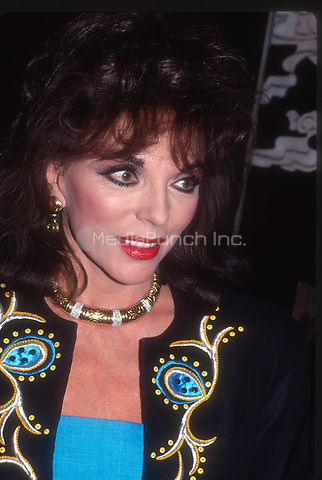 Joan Collins 1985<br /> Photo By John Barrett/PHOTOlink.net / MediaPunch