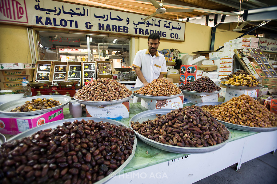 Deira. Shindagha Market. Dates.