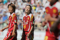 (L to R) Asuna Tanaka (Leonessa), Homare Sawa (Leonessa), JULY 24, 2011 - Football / Soccer : 2011 Plenus Nadeshiko LEAGUE 1st Sec match between INAC Kobe Leonessa 2-0 JEF United Ichihara-Chiba Ladies<br /> at Home's Stadium Kobe in Hyogo, Japan. (Photo by Akihiro Sugimoto/AFLO SPORT) [1080]