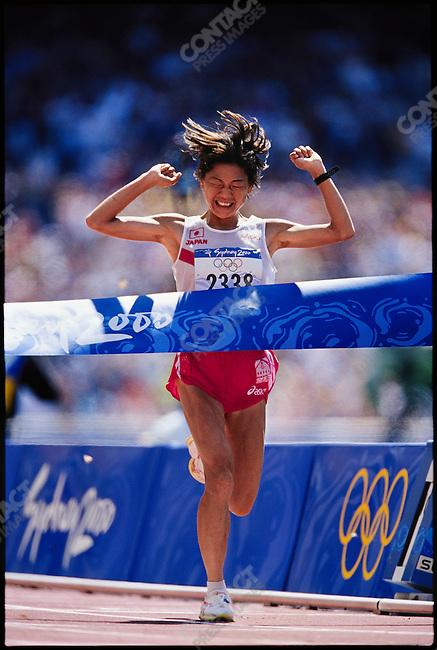 Marathon, women, Naoko Takahashi (Japan) gold. Summer Olympics, Sydney, Australia 2000
