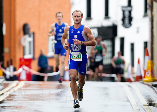 04 JUL 2010 - ATHLONE, IRL - Dale Grassby on his way to winning the Mens 30-34 category at the European Age Group Standard Distance Triathlon Championships .(PHOTO (C) NIGEL FARROW)