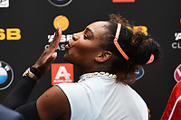 Serena Williams (USA) blows a kiss to fans during the ASB Classic WTA Womens Tournament Day 2. ASB Tennis Centre, Auckland, New Zealand. Tuesday 3 January 2017. ©Copyright Photo: Chris Symes / www.photosport.nz