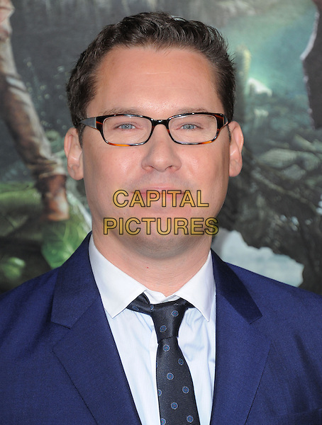 "Bryan Singer.""Jack The Giant Slayer"" Los Angeles Premiere held at Grauman's Chinese Theatre, Hollywood, California, USA..February 26th, 2013.headshot portrait blue shirt jacket white black glasses  .CAP/RKE/DVS.©DVS/RockinExposures/Capital Pictures."