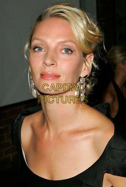 UMA THURMAN.At Tag Heuer Party to Celebrate Women and Unsem at the Royalton, New York, NY, USA..September 12th, 2006.Ref: ADM/JL.headshot portrait earrings jewellery.www.capitalpictures.com.sales@capitalpictures.com.©Jackson Lee/AdMedia/Capital Pictures.