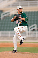 Starting pitcher Alejandro Sanabia (44) of the Greensboro Grasshoppers in action at Fieldcrest Cannon Stadium in Kannapolis, NC, Saturday August 24, 2008. (Photo by Brian Westerholt / Four Seam Images)