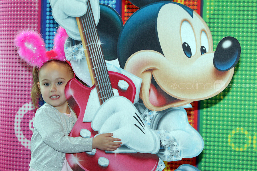NO FEE PICTURES 5/5/11 Ava Deane, age 3, Carlow pictured at the opening night of Disney Live! Mickeys Musical Adventure at the Grand Canal Theatre, Dublin. The spectacular stage show features all your Disney favourites and runs until this Sunday. Picture:Arthur Carron/Collins