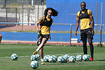 Getafe's Marc Cucurella (l) and Allan Nyom during training session. May 25,2020.(ALTERPHOTOS/Acero)