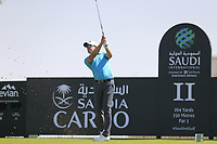 Alexander Bjork (SWE) on the 11th tee during the final round of  the Saudi International powered by Softbank Investment Advisers, Royal Greens G&CC, King Abdullah Economic City,  Saudi Arabia. 02/02/2020<br /> Picture: Golffile | Fran Caffrey<br /> <br /> <br /> All photo usage must carry mandatory copyright credit (© Golffile | Fran Caffrey)