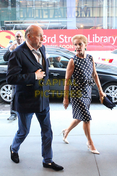 NEW YORK, NY - JULY 13: Reinaldo Herrera Guevara and Carolina Herrera  arrives to the 'Mr. Holmes' New York premiere at MoMA on July 13, 2015 in New York City. <br /> CAP/MPI/COR<br /> &copy;COR/MPI/Capital Pictures