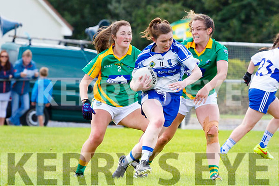 Cait Lynch Castleisland Demonds is tackled by anna Galvin southern Gaels during their County Championship final in Listry on Sunday