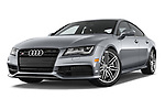 Stock pictures of low aggressive front three quarter view of 2015 Audi S7 Base 4 Door Sedan