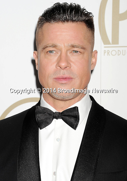 Pictured: Brad Pitt                                                       <br /> Mandatory Credit &copy; Joseph Gotfriedy/Broadimage<br /> 25th Annual Producers Guild Awards<br /> <br /> 1/19/14, Beverly Hills, California, United States of America<br /> <br /> Broadimage Newswire<br /> Los Angeles 1+  (310) 301-1027<br /> New York      1+  (646) 827-9134<br /> sales@broadimage.com<br /> http://www.broadimage.com