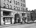 Pittsburgh PA:  View of Friendly Inn on Forbes Avenue near Duquesne University - 1950.  Assignment was for a developer trying to get some of the buildings condemned so he could get them at a good price for future development.