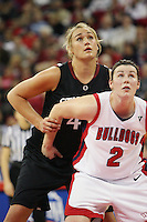 FRESNO, CA - DECEMBER 30:  Joslyn Tinkle of the Stanford Cardinal during Stanford's 68-46 win over the Fresno State Bulldogs on December 30, 2009 in Fresno, California.