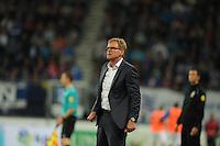 VOETBAL: HEERENVEEN: Abe Lenstra Stadion 29-08-2015, SC Heerenveen - PEC Zwolle, uitslag 1-1, trainer/coach Dwight Lodeweges, ©foto Martin de Jong