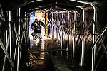 Stockholm 2013-12-07 Ishockey Elitserien AIK - Skellefte&aring; AIK :  <br /> AIK:s m&aring;lvakt Daniel Larsson p&aring; v&auml;g ut till match<br /> (Foto: Kenta J&ouml;nsson) Nyckelord:  AIK Skellefte&aring; SAIK