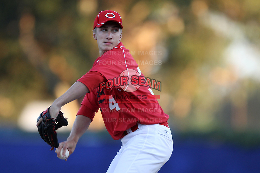 Ryan Castellani participates in the Area Code Games at Blair Field on August 5, 2012 in Long Beach, California. (Larry Goren/Four Seam Images)