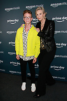 NEW YORK, NY - JULY 10: Tyler Oakley and Jane Lynch at Amazon's Prime Day Concert at Hammerstein Ballroom  on July 10, 2019 in New York City.<br /> CAP/MPI/DC<br /> ©DC/MPI/Capital Pictures