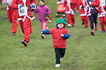 Three year-old Noah Young who ran the whole course!Kinghorn RNLI Santa Run. 25 Nov 2017. Credit: Photo by Tina Norris. Copyright photograph by Tina Norris. Not to be archived and reproduced without prior permission and payment. Contact Tina on 07775 593 830 info@tinanorris.co.uk  All print sales: Tina Norris<br /> www.tinanorris.co.uk