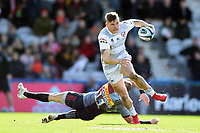 Jason Woodward of Gloucester Rugby takes on the Harlequins defence. Gallagher Premiership match, between Harlequins and Gloucester Rugby on March 10, 2019 at the Twickenham Stoop in London, England. Photo by: Patrick Khachfe / JMP