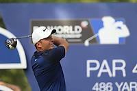 Francesco Molinari (ITA) on the 16th tee during the 2nd round of the DP World Tour Championship, Jumeirah Golf Estates, Dubai, United Arab Emirates. 16/11/2018<br /> Picture: Golffile | Fran Caffrey<br /> <br /> <br /> All photo usage must carry mandatory copyright credit (© Golffile | Fran Caffrey)
