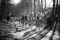 Fabian Cancellara (SUI/Trek-Segafredo) himself leads the pursuit on the race leaders<br /> <br /> E3 - Harelbeke 2016