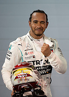 Lewis HAMILTON (GBR) (MERCEDES-AMG PETRONAS MOTORSPORT) celebrates his win after the Bahrain Grand Prix at Bahrain International Circuit, Sakhir,  on 31 March 2019. Photo by Vince  Mignott.