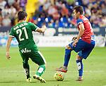 Levante UD's Tono Garcia (r) and SD Eibar's Saul Berjon (l) during La Liga match. September 23, 2015. (ALTERPHOTOS/Javier Comos)
