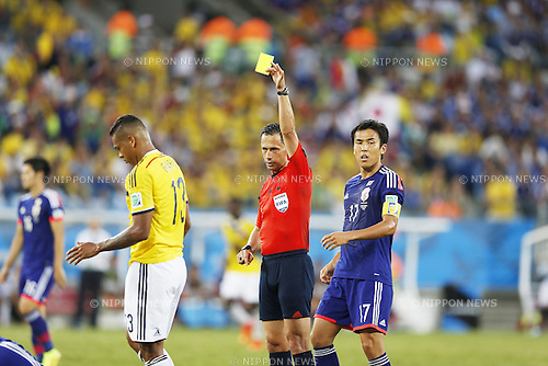 Pedro Proenca (Referee), JUNE 24, 2014 - Football / Soccer : FIFA World Cup Brazil 2014 Group C match between Japan 1-4 Colombia at the Arena Pantanal in Cuiaba, Brazil. (Photo by AFLO)