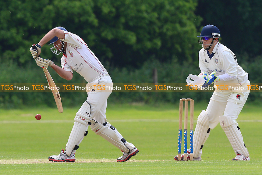 S Feeley in batting action for Hutton during Hutton CC vs Hainault & Clayhall CC, Shepherd Neame Essex League Cricket at the Polo Field on 28th May 2016