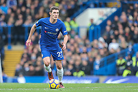 Andreas Christensen of Chelsea during the Premier League match between Chelsea and Newcastle United at Stamford Bridge, London, England on 2 December 2017. Photo by David Horn.