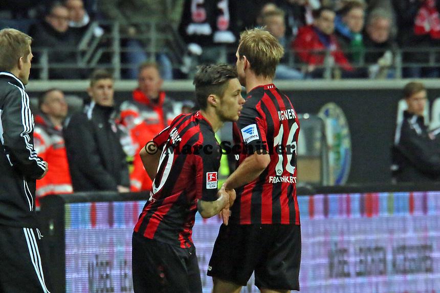 Vaclav Kadlec (Eintracht) kommt für Stefan Aigner - Eintracht Franfurt vs. Borussia Mönchengladbach, Commerzbank Arena