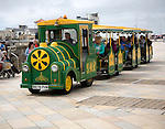 Donald The Diesel land train on the seafront, Weston super Mare, Somerset, England