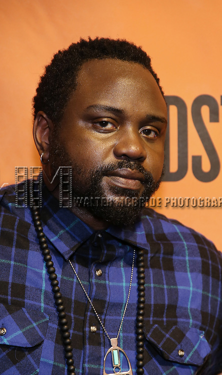 Brian Tyree Henry backstage at  the Second Stage Theater Broadway lights up the Hayes Theatre at the Hayes Theartre on February 5, 2018 in New York City.