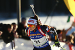 10/12/2016, Pokljuka - IBU Biathlon World Cup.<br /> Dorothea Wierer competes at the pursuit race in Pokljuka, Slovenia on 10/12/2016. Germany's Laura Dahlmeier remains leader with the yellow bib after his today victory.
