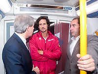 They are a total of 18 stations for the 18 teams that will compete in the final of the tennis tournament. The Davis Cup finals will be held for the first time in Madrid, between November 18 and 24 at the Caja Magica.<br /> Angel Garrido, Feliciano lopez and Albert Costa