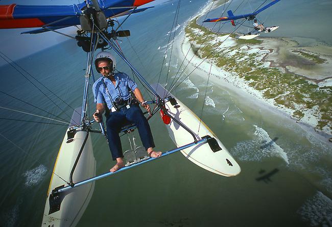 Charles O'Rear flies ultralight in Florida