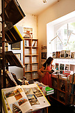 USA, California, San Francisco, the interior of Sout Architectural Books in North Beach