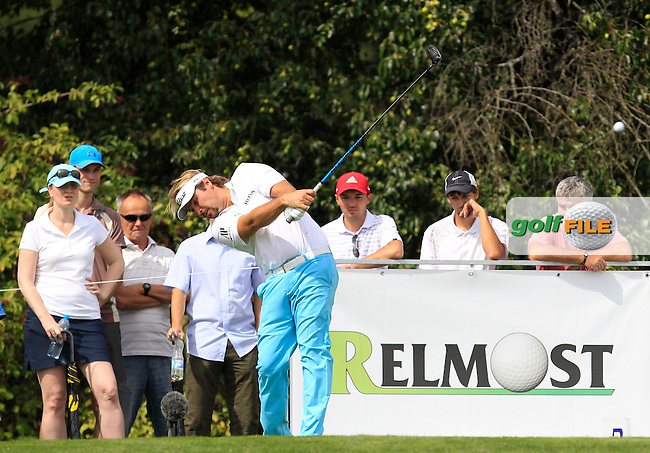 Victor Dubuisson (FRA) on the 6th tee during Round 1 of the D+D Real Czech Masters at the Albatross Golf Resort on Thursday 27th August 2015.<br /> Picture:  Thos Caffrey / www.golffile.ie