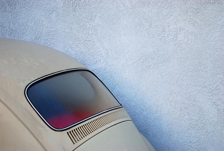 Volkswagen Bug rear window.