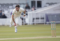 James Anderson of Lancashire CCC follows through during Middlesex CCC vs Lancashire CCC, Specsavers County Championship Division 2 Cricket at Lord's Cricket Ground on 11th April 2019