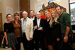 Emily Lynch, Kathleen Quinlan, Richard S Rosenzweig, David Snowden, Hugh Hefner, Dr Lois Lee, Dyan Cannon, Thomas Jane at a ceremony where Hugh Hefner receives first founder's 'Hero of the Hearts' award from Children of the Night on November 18, 2010 in Van Nuys, Los Angeles, California.