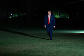 United States President Donald J. Trump returns to the White House in Washington, DC after attending a political event in Fayetteville, North Carolina on Saturday, September 19, 2020. <br /> Credit: Chris Kleponis / Pool via CNP